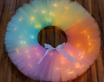 Unicorn Rainbow LED Light Up Tutu - Unicorn Light Up Tutu - Rainbow Light Up Tutu - Unicorn Rave Tutu