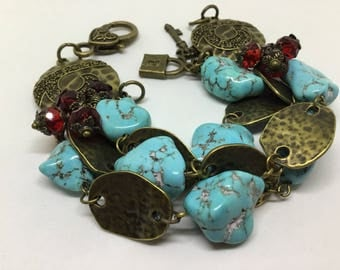SOLD  SOLD  Chunky Turquoise Nugget Bracelet.