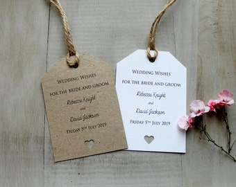 10 Shabby Chic Vintage Style Wedding Wish Tree Tags Favours Guest Decoration