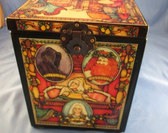 SCROOGE 12 Days of Christmas Jack in the Box Music Box by Enesco, c1987 REDUCED