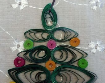 Quilled Paper Christmas Tree Ornament