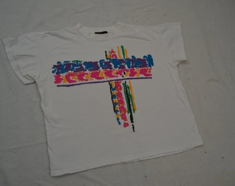 Super Cool Vintage 90's Abstract Crop Top T-Shirt