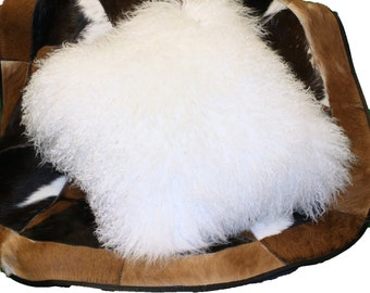 Glacier Wear Tibetan Mongolian Lamb Pillow