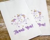 Unicorn Paper Bags - Unicorn Favors - Party Favor Bags - Unicorn Birthday Party - Printed Bags - Unicorn Party - Printed Paper Bags