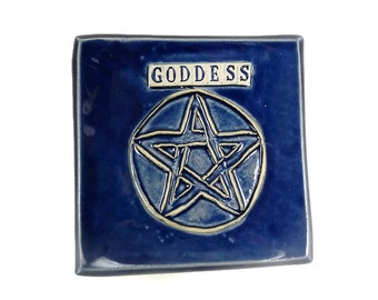 Goddess Altar Dish, Pentacle Dish, Wiccan Altar Dish, Pentagram Décor, Wiccan Décor, Pagan Home Décor, Altar Tool, Pentagram Plate, Wicca