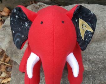 "STAR TREK- Red Plush Elephant - ""Engineering"""