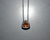 Sterling silver slide pendant with Madeira Citrine