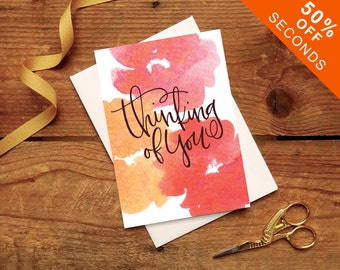 SECONDS 50% OFF // Thinking of You // With Love // Sympathy Card // Loss // Empathy // Wellbeing