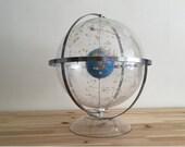 Transparent Lucite Celestial Globe - Unique Orbital Teaching Tool