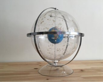 Transparent Lucite Celestial Globe - Unique Orbital Teaching Tool