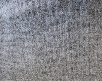 Vintage Heather Grey Wool Fabric- 1 Yard