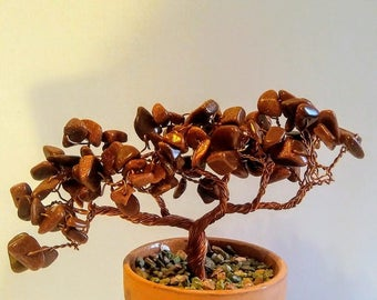 Goldstone Wire Copper Tree Sculpture
