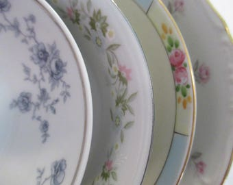 Vintage Mismatched China Dessert / Fruit Bowls, Berry Bowls, China Bowls - Set of 4