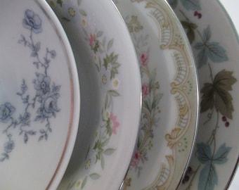 Vintage Mismatched China Dessert Bowls, Fruit Bowls, Berry Bowls, Sauce Bowls - Set of 4