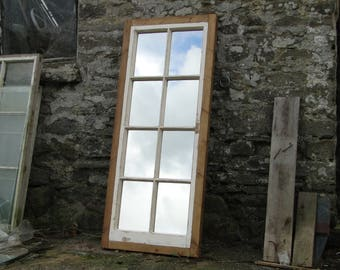 Reclaimed Window Mirror - Large eight-pane with Rustic Frame