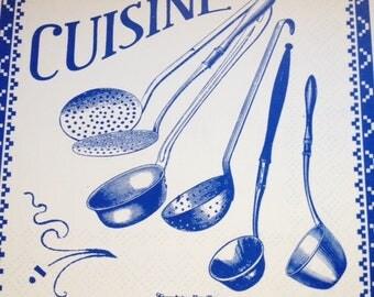 Comptoir des Familles enamel cuisine sign