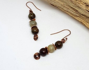 Jasper Bohochic Earrings - Jasper Earrings - Bohochic Earrings