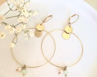 Earrings boho minimalist made in France