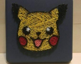 Pikachu Head Pokemon String Art