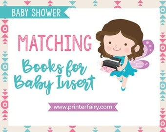 Matching, Books for Baby Insert, Baby Shower Books for Baby Inserts