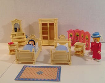 Playmobil Victorian Bedroom Furniture Set #5321 for Mansion Doll House