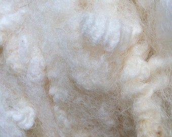 Mule Washed Fleece  for Spinning and Crafts 200g