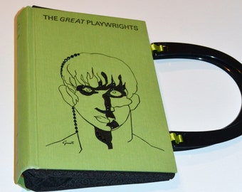 Great Playwrights upcycled book purse
