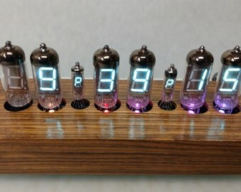 6 Digit RGB VFD Tube Alarm Clock, Custom Case