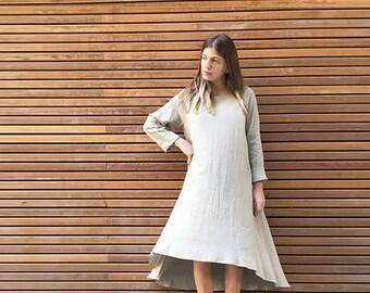 SALE - Asymmetrical Dress, Loose Dress, Waterfall Dress, Casual Dresses, Boho Chic Dress, Casual Fashion, Bohemian Style, Bohemian Dress