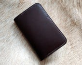 Oxblood York Card Slot Notebook Cover