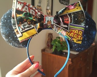 Mini Mouse ears headband Stars Wars