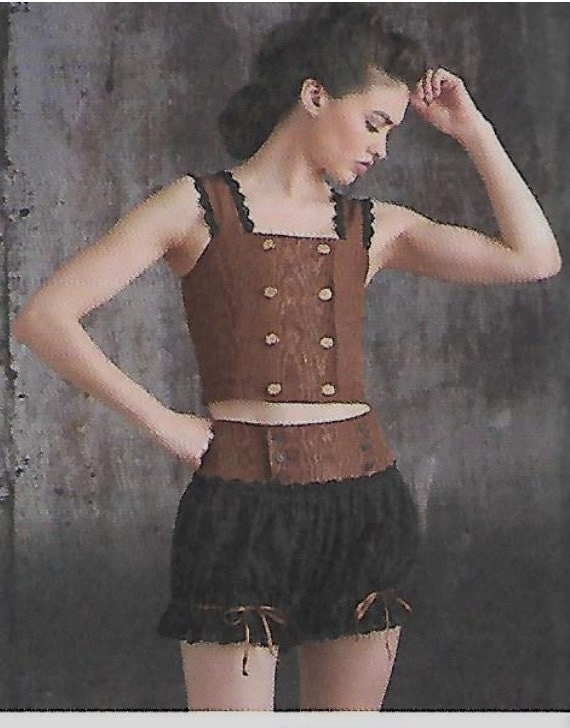 8154 Simplicity Steampunk Camisole Tops, Shorts, and ...