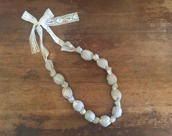 Gray Fabric Nursing/Teething Necklace