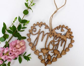 Mom Birthday Day Laser Cut Gift For Mom Hanging Wooden decoration, wall art,