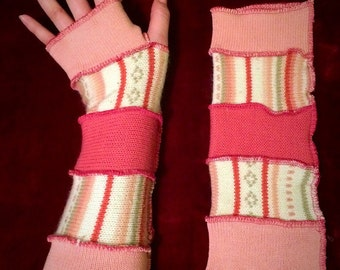 Pink/Cream Arm Warmers
