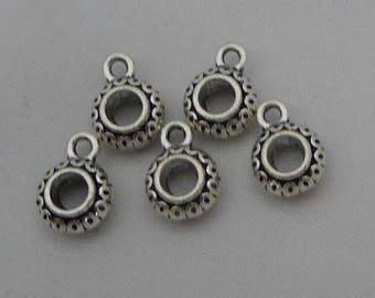 50pcs Bail Charms, 12x9x4mm Antique Silver Tone Pendant Bails Charm Connector Holder - Necklace Clasp Connectors