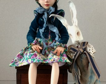 "Art doll OOAK  ""Alice in Wonderland"""