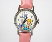 Vintage Cinderella Watch - Vintage Disney Watch - Cinderella Wind Up Watch - Mechanical Watch - Cinderella Gift - Cinderella Wrist Watch