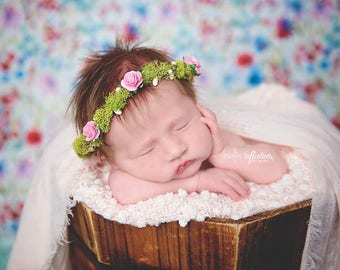 Newborn Floral Crown, Photography Prop