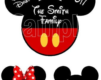 Disney Cruise Line Mickey Minnie Mouse Family Set Name Plate Porthole Stateroom Door Magnet Buy 3 small heads get 1 free!!!