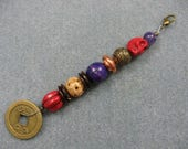 Mini pirate hair bead strand with coin