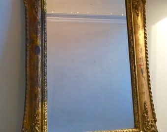 Antique French Gold Gilt mirror