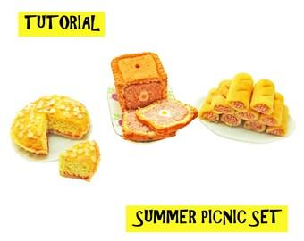 Tutorial - Summer Picnic Set - Miniature 1:12 Scale Food