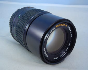 Minolta MD Rokkor-X 135mm f/3.5 Lens for All Minolta Manual Focus SLRs