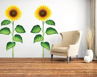 Sunflower Wall Decals #1 Graphic Vinyl Sticker Bedroom Living Room Wall Home Decor