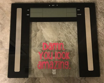 Bathroom Scale Decal Weight Loss Motivation