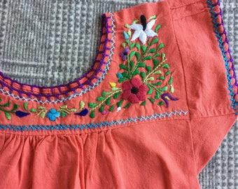 Oaxacan embroidered dress 2-3T/boho/birthday/fiesta