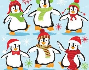 80% OFF SALE Penguins clipart commercial use, vector graphics, digital clip art, digital images  - Cl586
