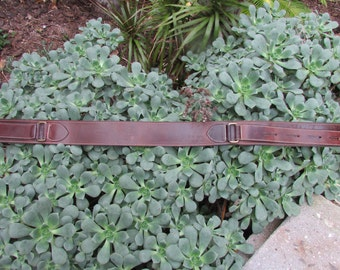 Vintage Joan & David Leather belt size small tan leather brass buckle