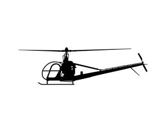 Hiller H23 Raven Helicopter Decal